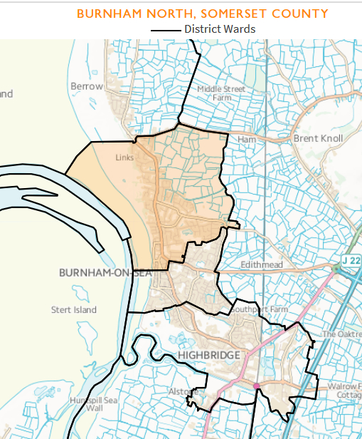 Map of Burnham North Ward